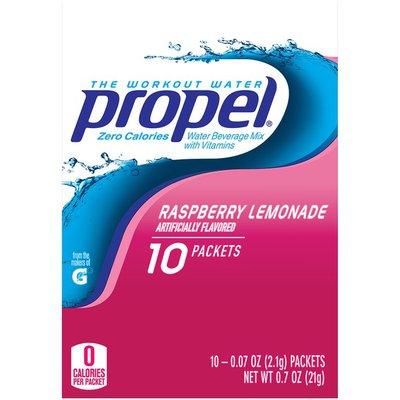 Propel Water Beverage Mix, Nutrient Enhanced, Raspberry Lemonade
