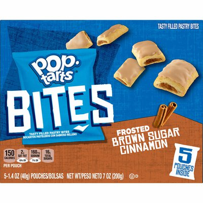 Kellogg's Pop-Tarts Bites Tasty Filled Pastry Bites, Frosted Brown Sugar Cinnamon