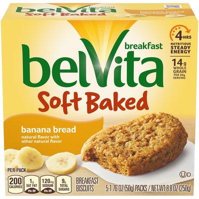 belVita Soft Baked Breakfast Biscuits, Banana Bread