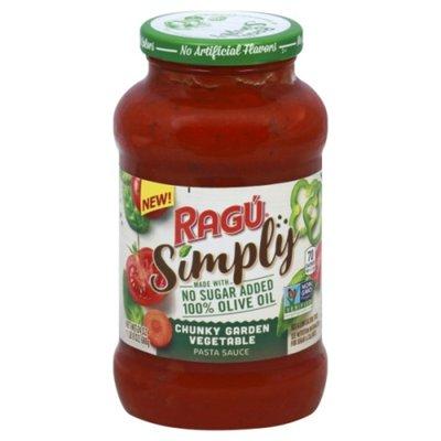 Ragu Pasta Sauce, Chunky Garden Vegetable