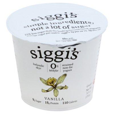Siggi's Icelandic Style Skyr Non-Fat Yogurt, Vanilla