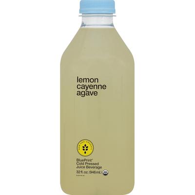 BluePrint Juice Beverage, Cold Pressed, Lemon, Cayenne Agave