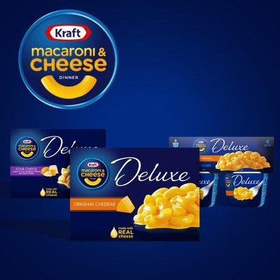 Kraft Deluxe Original Cheddar Macaroni & Cheese Dinner