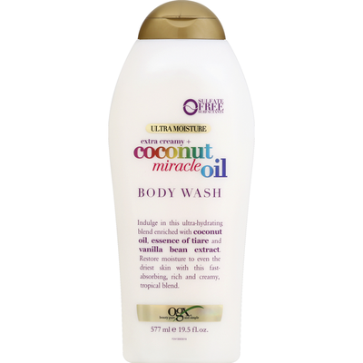 OGX Body Wash, Ultra Moisture, Extra Creamy + Coconut Miracle Oil