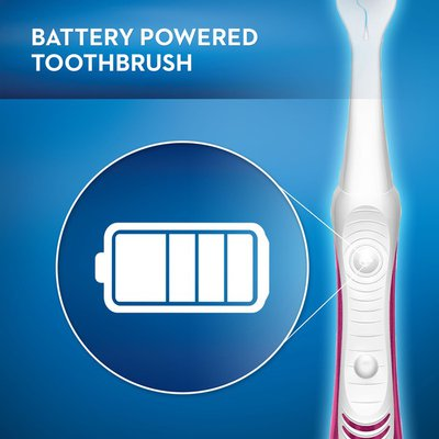 Oral-B Pulsar 3D White Luxe Battery Powered Toothbrush, Soft