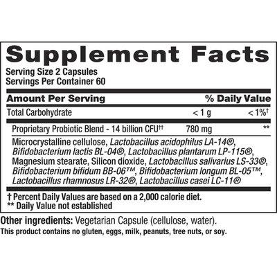 Nutrition Now Pb8™ Vegetarian Probiotic Supplement For Men And Women, 120 Count