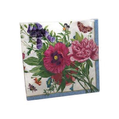 Caspari Blossoms & Brooches Paper Luncheon Napkins