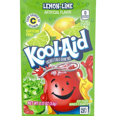 Kool Ai Unsweetened Lemon Lime Artificially Flavored Powdered Soft Drink Mix