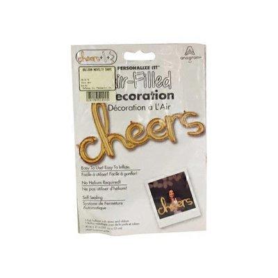New Amscan Gold Air-fill Balloons Cheers Foil Script