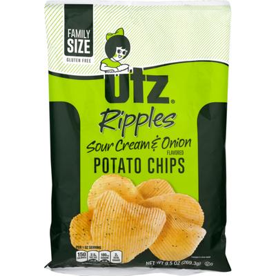 Utz Ripples Sour Cream & Onion Potato Chips Family Size