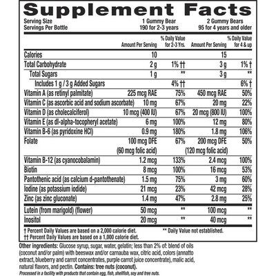 L'Il Critters Gummy Vites Daily Kids Gummy Multivitamin: Vitamins C, D3 And Zinc For Immune Support* 190 Ct (95-190 Day Supply), 5 Delicious FlavorsFrom America'S Number One Kids Gummy Vitamin Brand