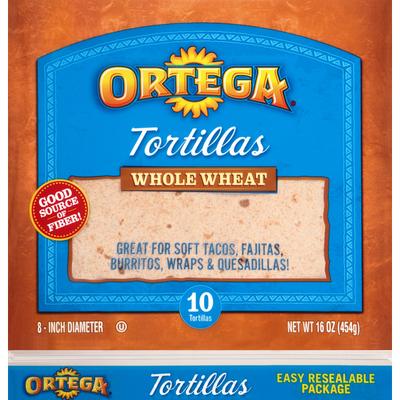 Ortega Whole Wheat Tortillas