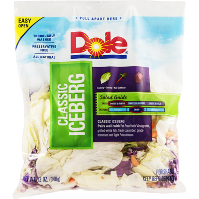 Dole Classic Iceberg Salad Bag