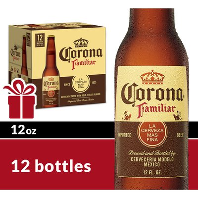 Corona Familiar Mexican Lager Beer Bottles
