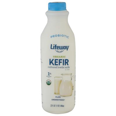Lifeway Organic Plain Unsweetened Cultured Lowfat Milk