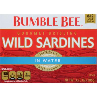 Bumble Bee Gourmet Brisling Wild Sardines in Water
