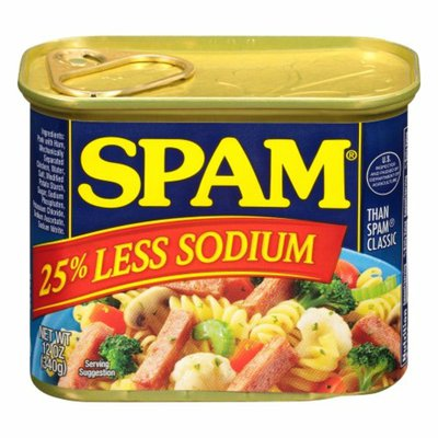 SPAM 25% Less Sodium Canned Meat