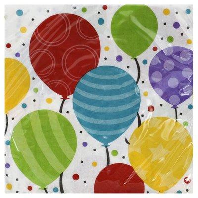 Creative Converting Napkins, Shimmering Balloons, 2 Ply
