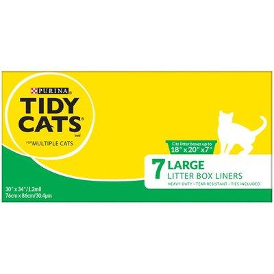 Purina Tidy Cats Cat Litter Box Liner, Drawstring Litter Box Liners Multi Cat