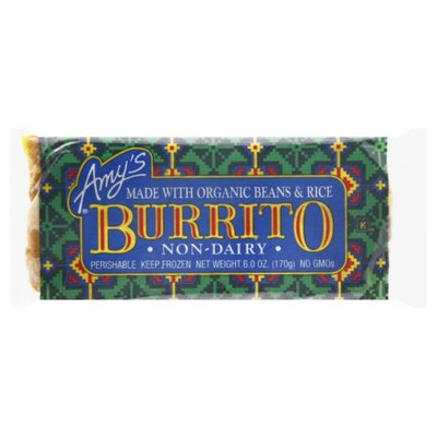 Amy's Kitchen Frozen Bean & Rice Burrito, Vegan, Non-Dairy
