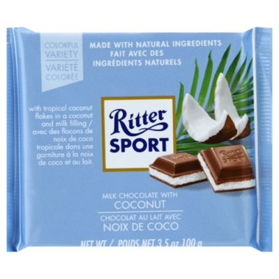 Ritter Sport Milk Chocolate, with Coconut