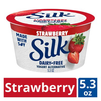 Silk Strawberry Dairy-Free Yogurt Alternative
