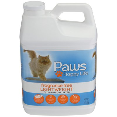 Paws Happy Life Unscented Lightweight Scoopable Cat Litter