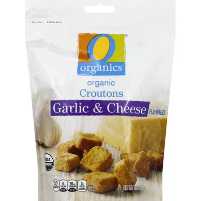 O Organics Croutons, Organic, Garlic & Cheese Flavored