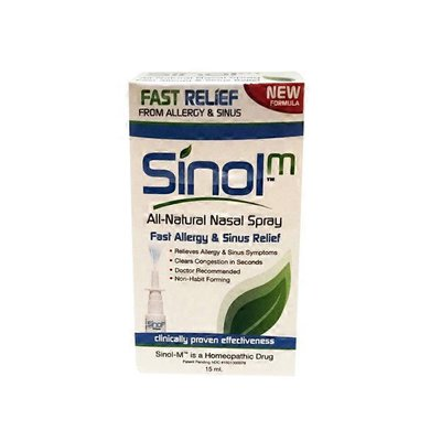 Sinol All Natural Fast Allergy and Sinus Relief Nasal Spray