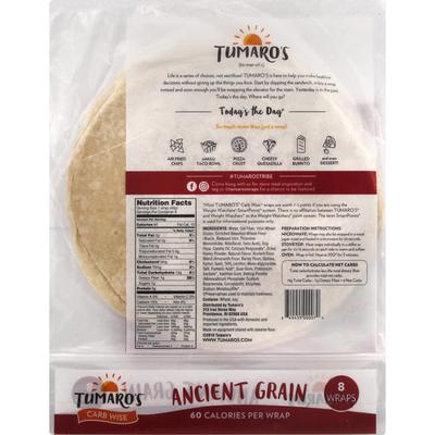 Tumaro's Ancient Grain Carb Wise Wraps