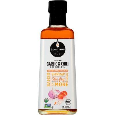Spectrum Culinary Organic Garlic & Chili Sesame Oil