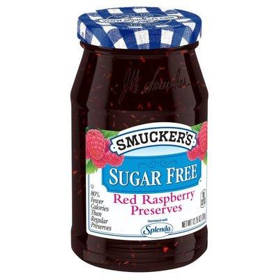 Smucker's Sugar Free Red Raspberry Preserves Sweetened with Splenda