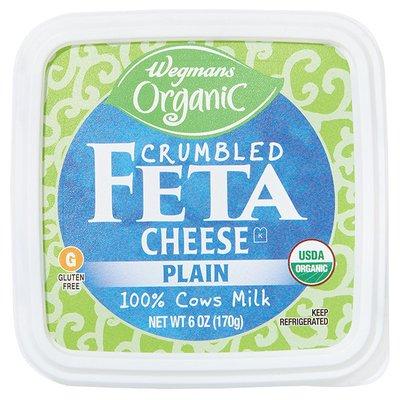 Wegmans Organic Cheese, Feta, Crumbled, Plain