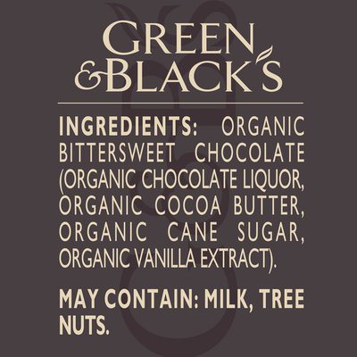 Green & Black'S Organic Dark Chocolate Bar, 85% Cacao