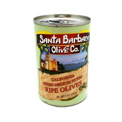 Santa Barbara Olives, Ripe, California Green, Medium Pitted