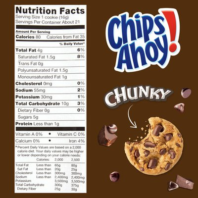 Chips Ahoy! Chunky Chocolate Chip Cookies