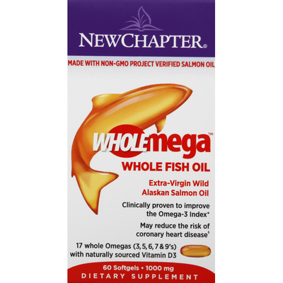 New Chapter Fish Oil, Whole, 1000 mg, Softgels