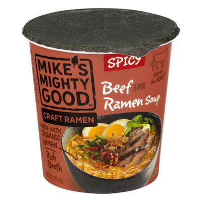 Mike's Mighty Good Beef Ramen Soup Spicy