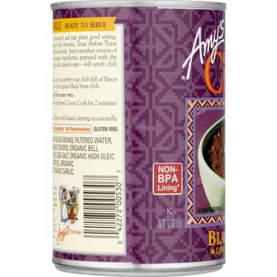 Amy's Kitchen Organic Low-Fat Medium Black Bean Chili