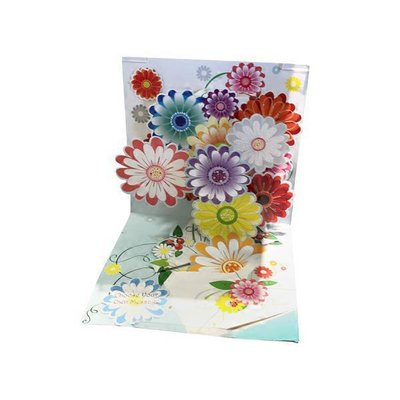 Up With Paper Floral Envelope Pop-Up Greeting Card