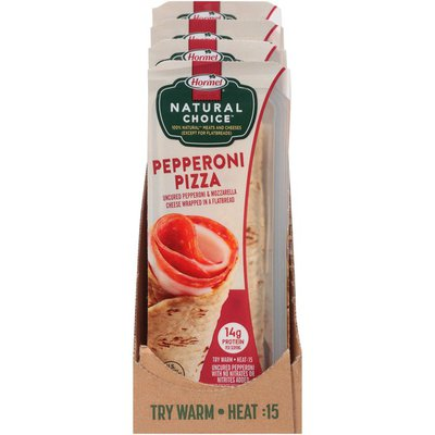 Hormel Natural Choice Pepperoni Pizza Wrapped in a Flatbread