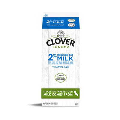 Clover Sonoma Conventional UHT 2% Reduced Fat Half Gallon