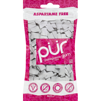 Pur Chewing Gum, Sugar-Free, Pomegranate Mint