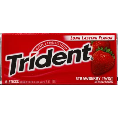 Trident Gum, Sugar Free, Strawberry Twist
