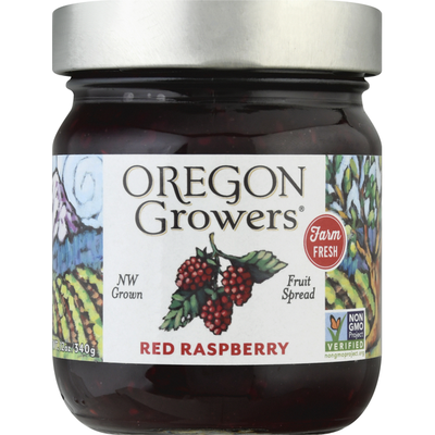 Oregon Growers Fruit Spread, Red Raspberry