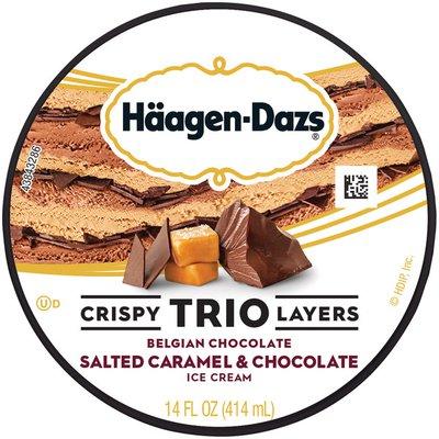 Haagen-Dazs TRIO Crispy Layers Salted Caramel & Chocolate Ice Cream
