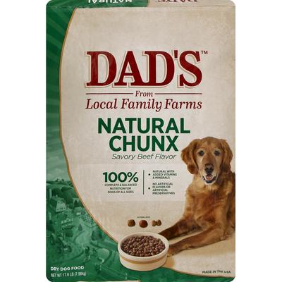 Dad's Dog Food, Dry, Natural Chunx, Savory Beef Flavor