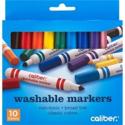 Caliber Non Toxic Broad Line Washable Markers Classic Colors