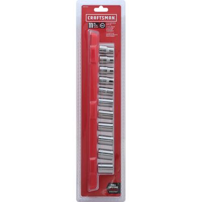 Craftsman Drive Metric Socket Set, 1/2 Inch, 11 Piece
