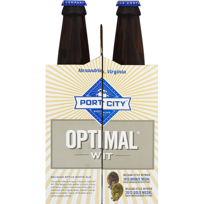 Port City Beer, White Ale, Belgian Style, Optimal Wit